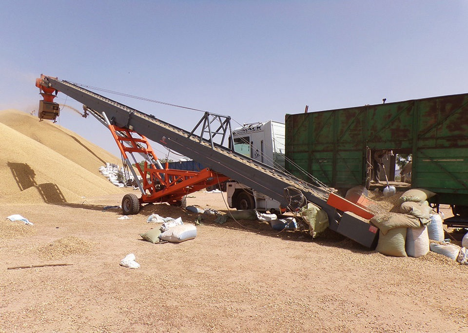 Sauterelle de manutention céréales
