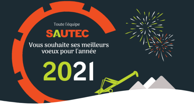 SAUTEC vous souhaite ses meilleurs voeux pour l'année 2021.