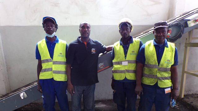 Remplacement d'un convoyeur fixe pour la brasserie sénégalaise SOBOA.